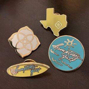 Set of 4 Kendra Scott Pins